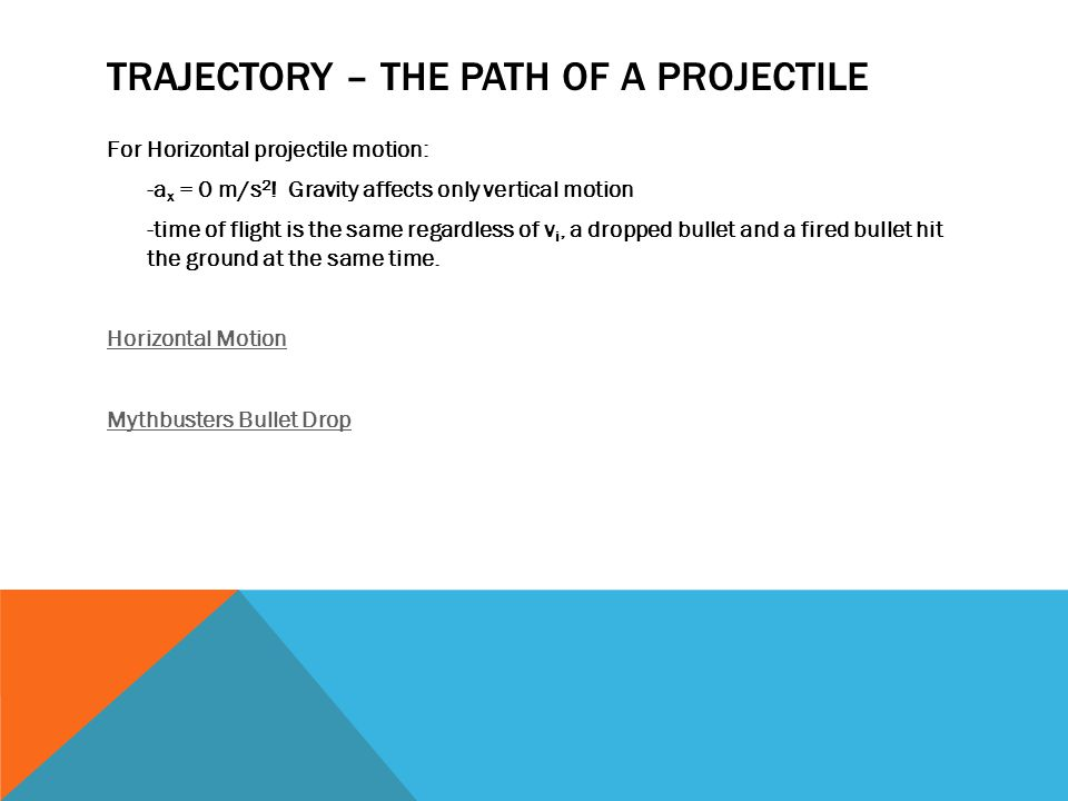Trajectory – The path of a Projectile