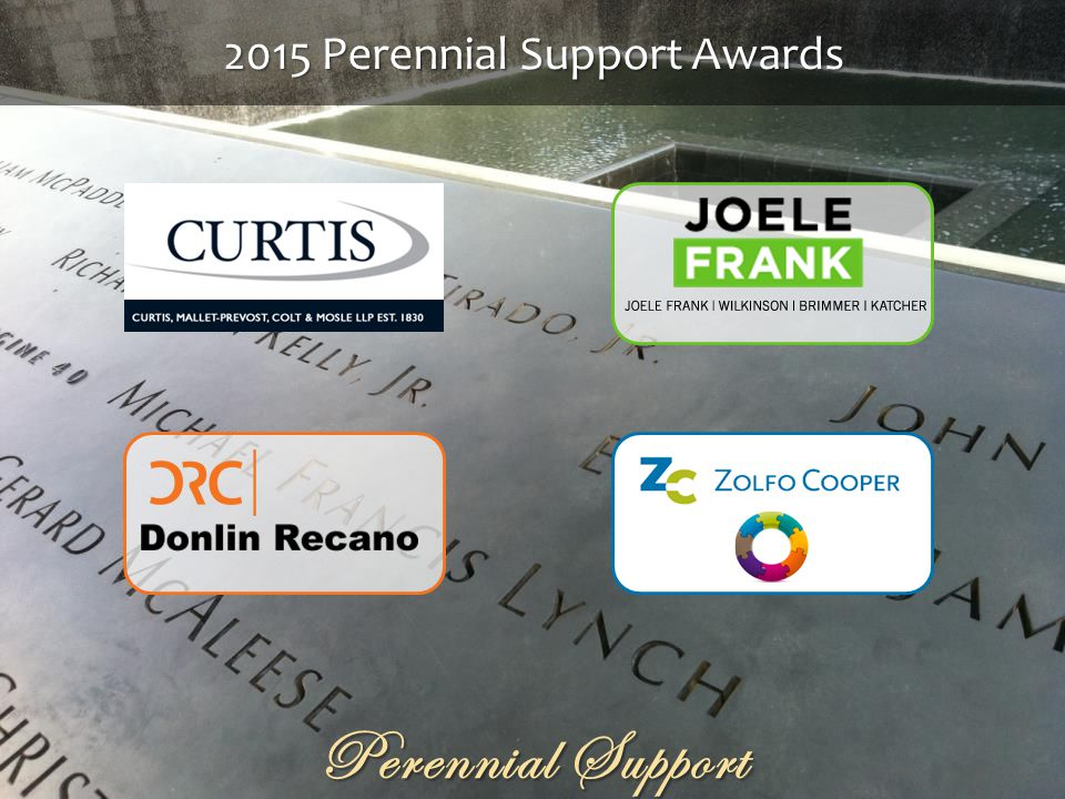 2015 Perennial Support Awards