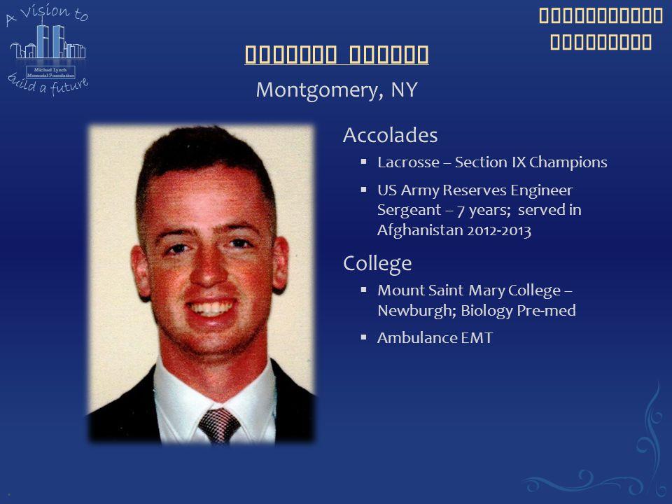 Matthew Conboy Montgomery, NY Accolades College