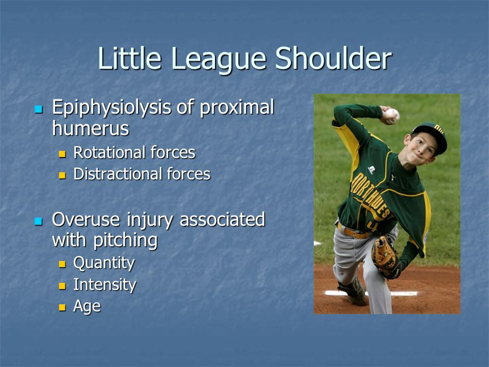 Little League Shoulder