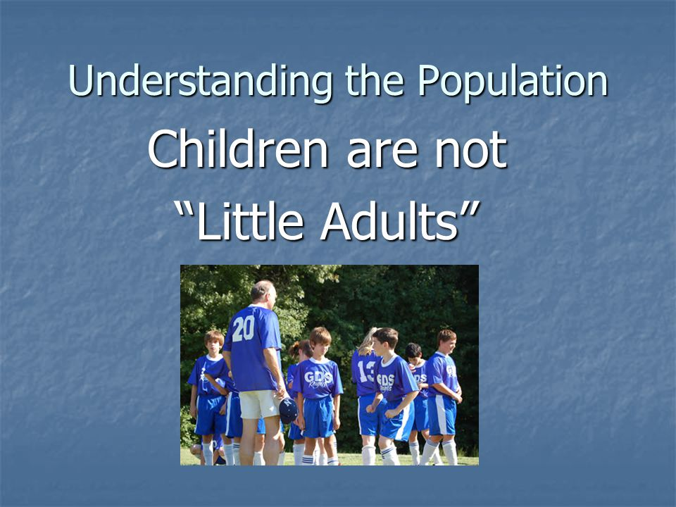 Understanding the Population