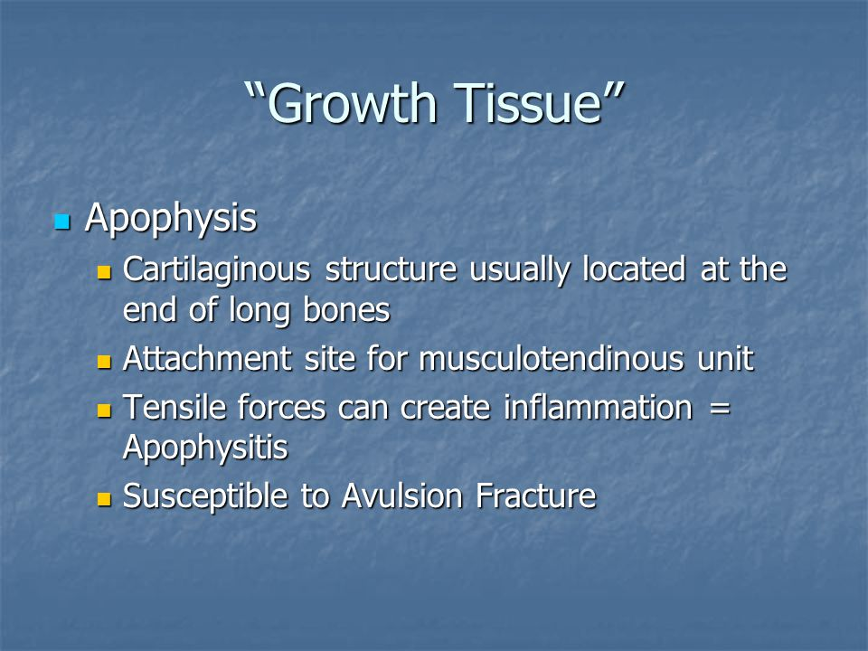Growth Tissue Apophysis