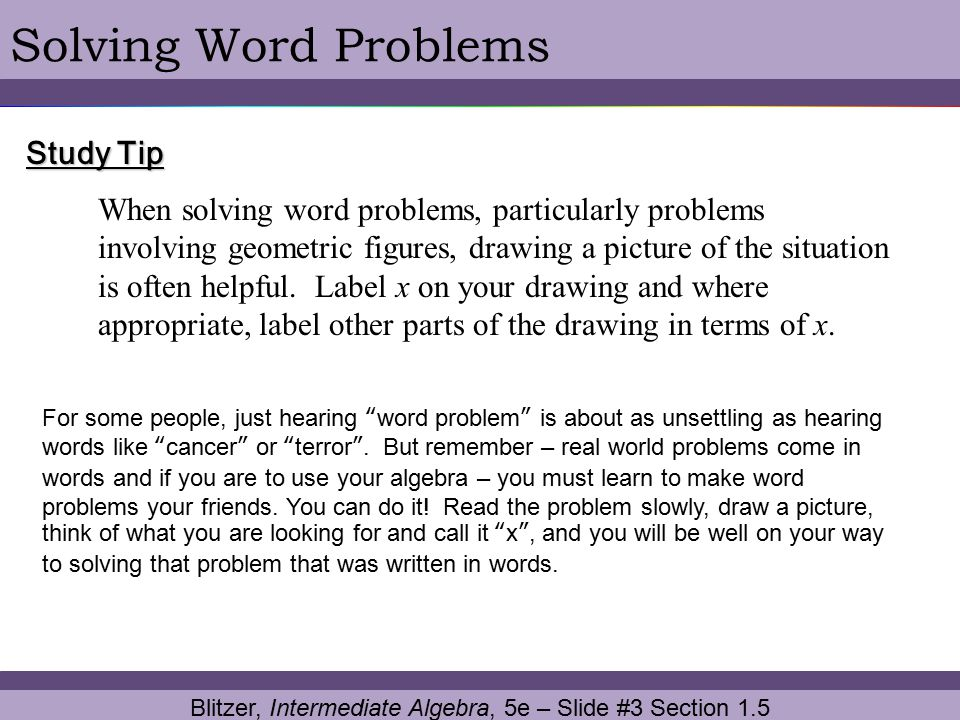 Blitzer, Intermediate Algebra, 5e – Slide #3 Section 1.5