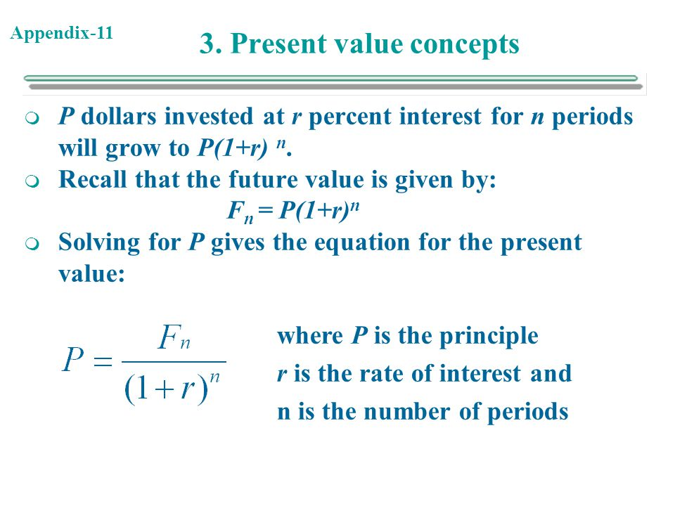 3. Present value concepts