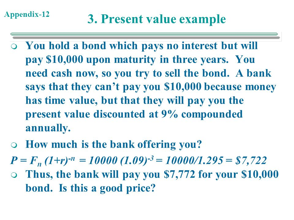 3. Present value example