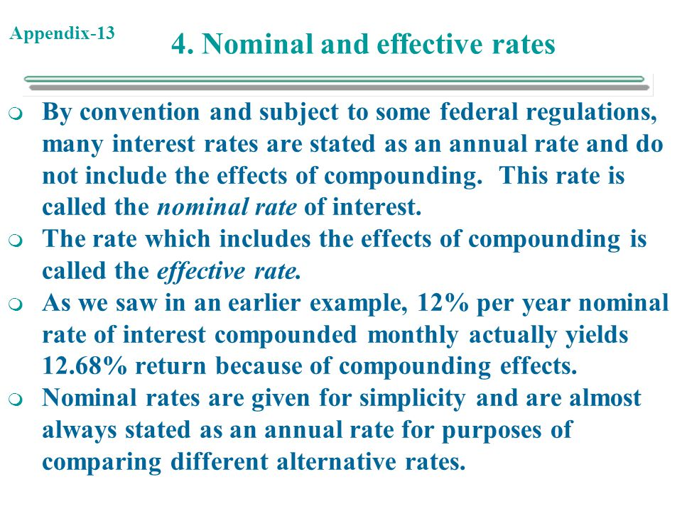 4. Nominal and effective rates
