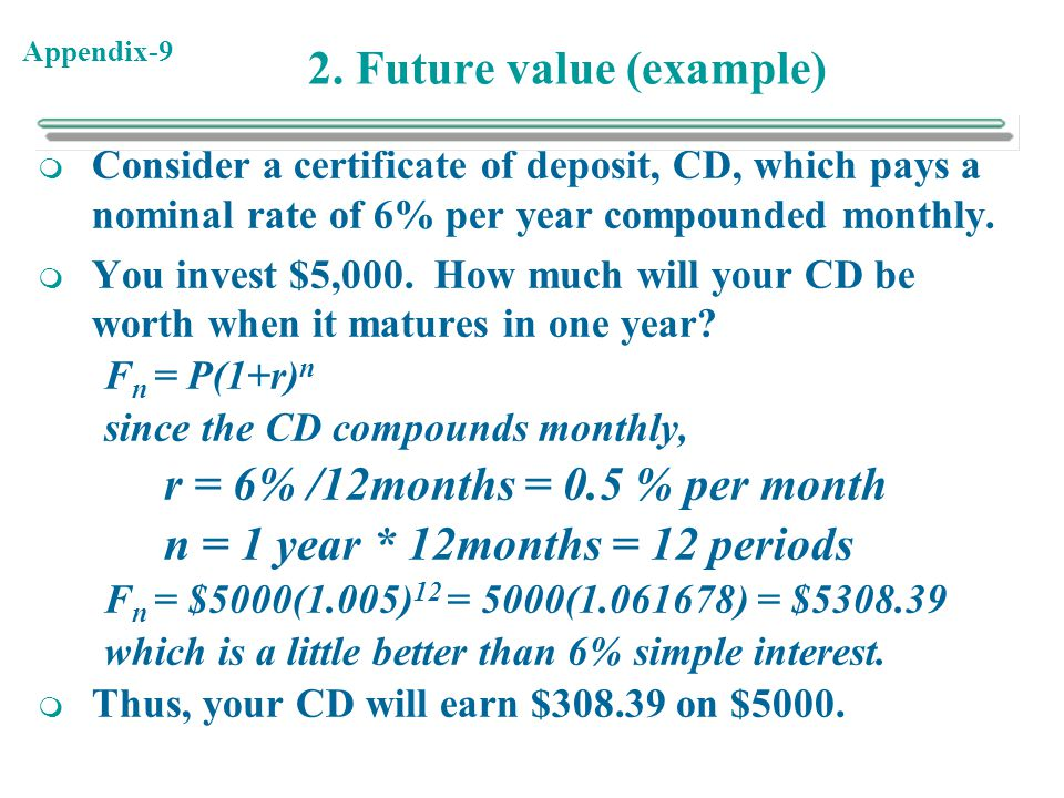 2. Future value (example)