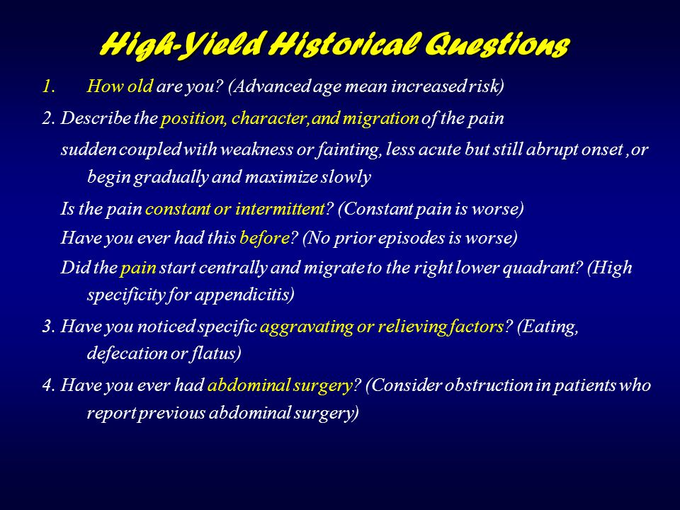 High-Yield Historical Questions