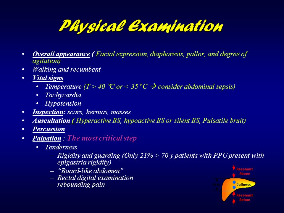 Physical Examination Overall appearance ( Facial expression, diaphoresis, pallor, and degree of agitation)