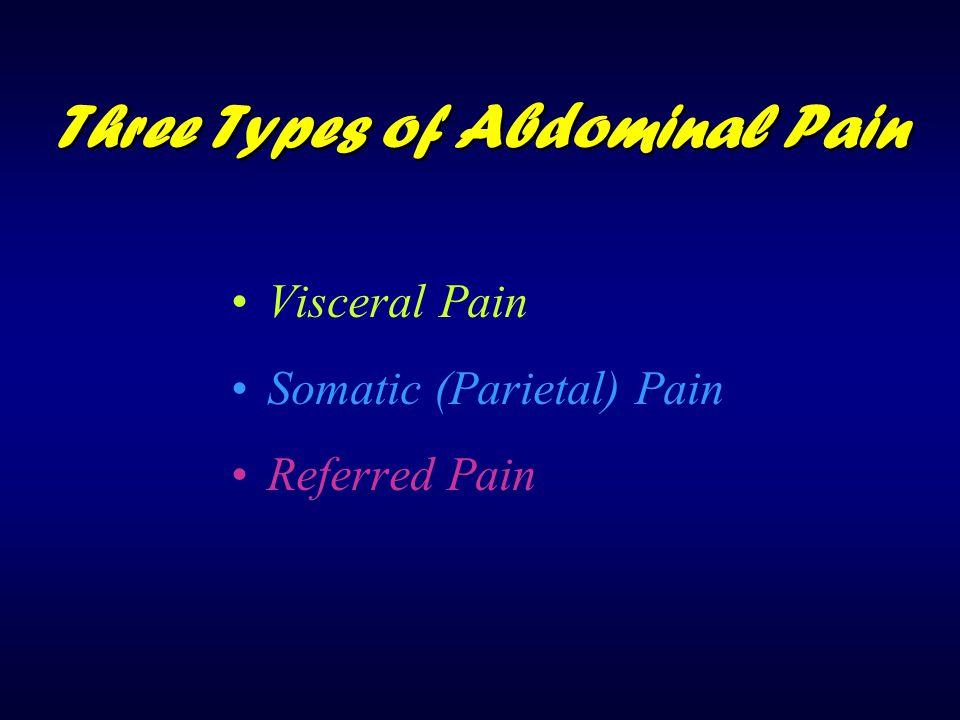 Three Types of Abdominal Pain