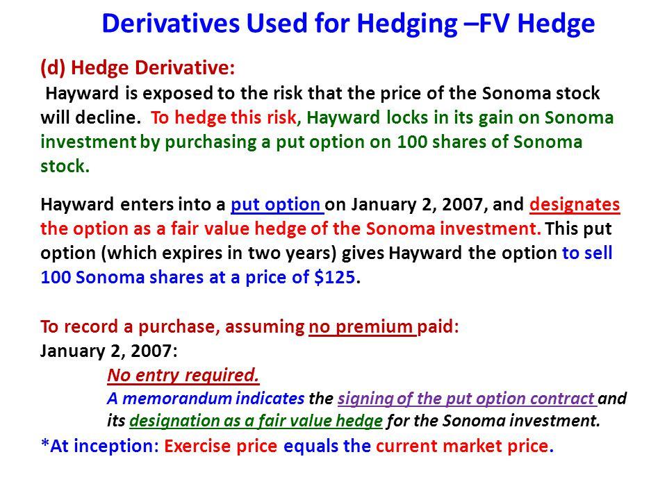 Derivatives Used for Hedging –FV Hedge