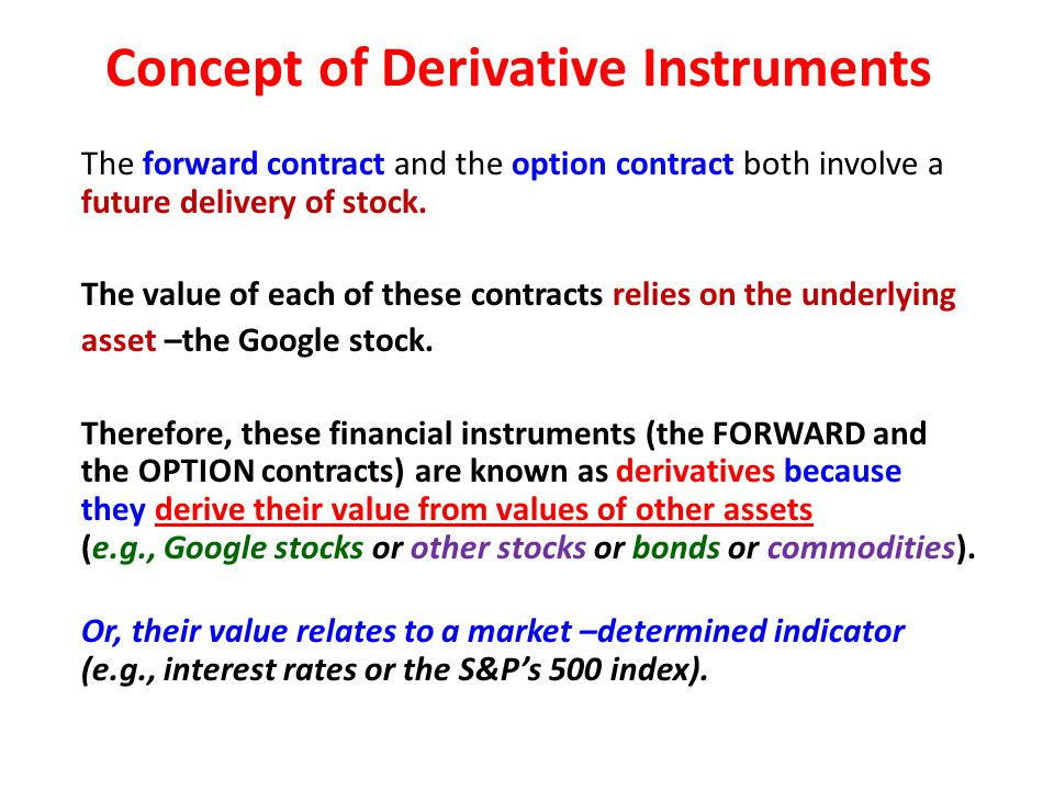 Concept of Derivative Instruments