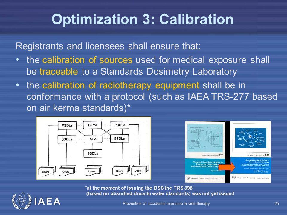 Optimization 3: Calibration