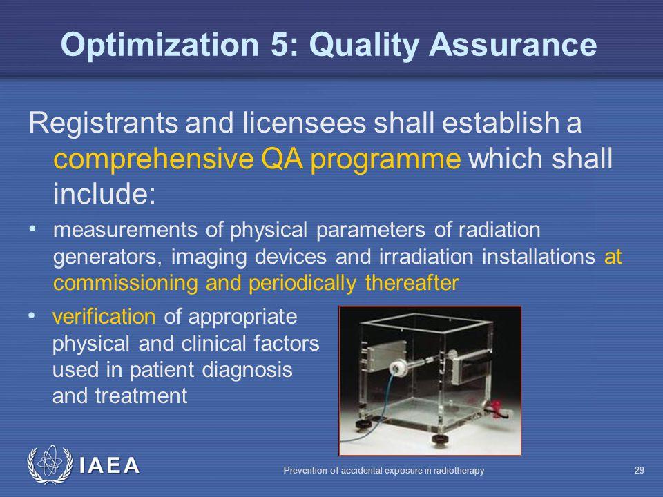 Optimization 5: Quality Assurance