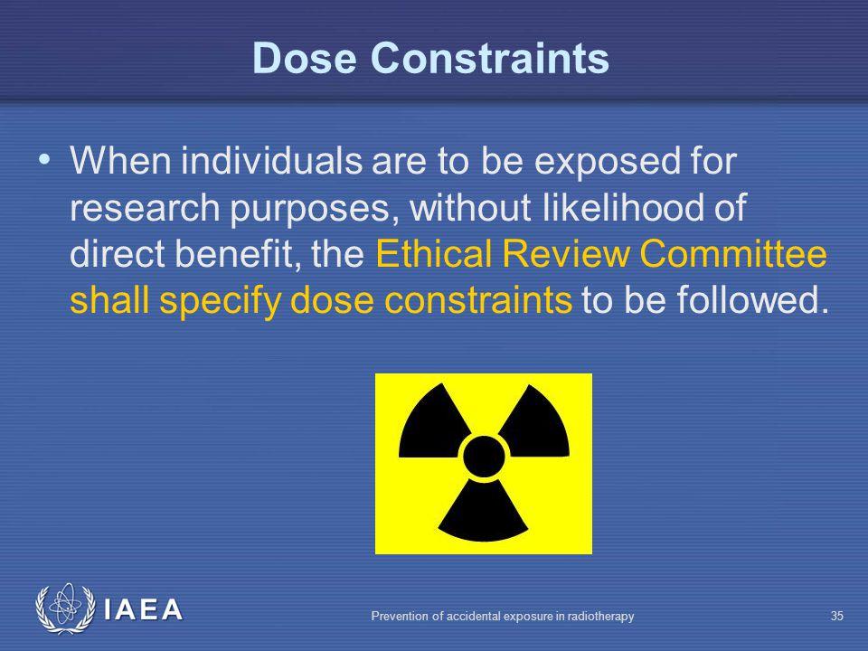 Dose Constraints