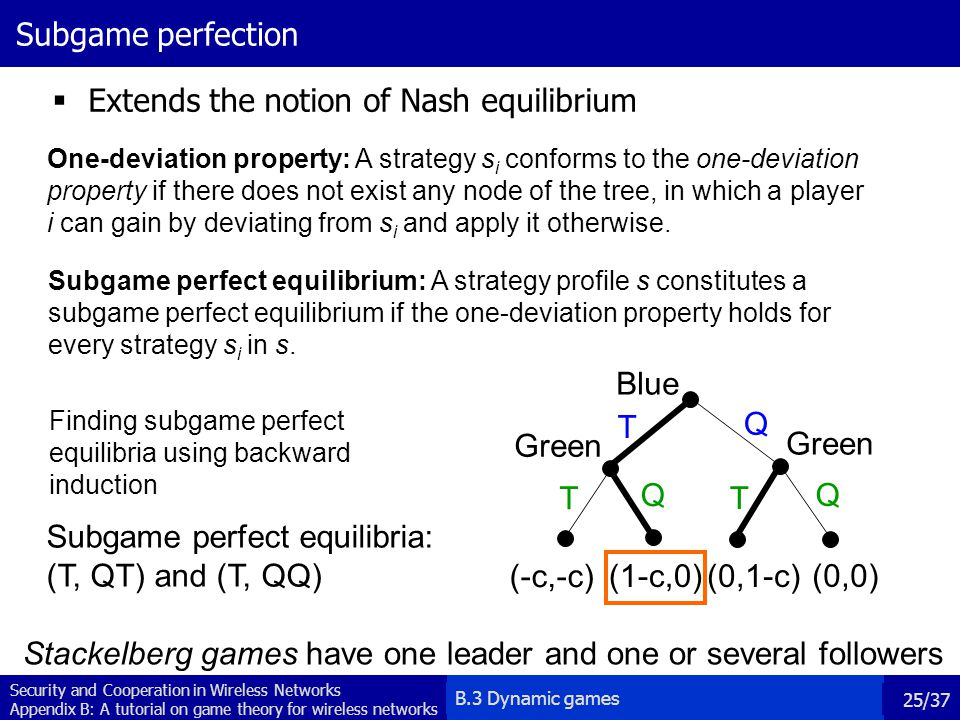 Extends the notion of Nash equilibrium