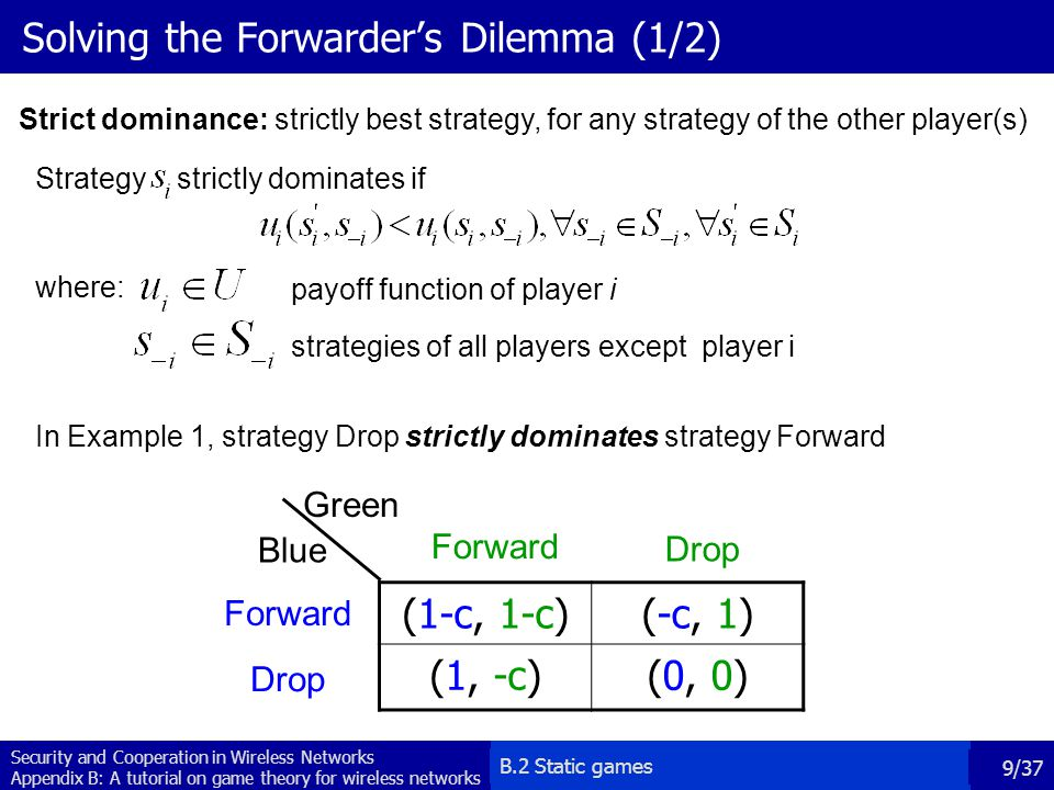 Solving the Forwarder's Dilemma (1/2)