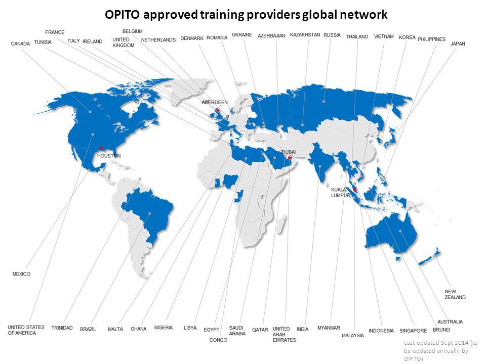OPITO approved training providers global network