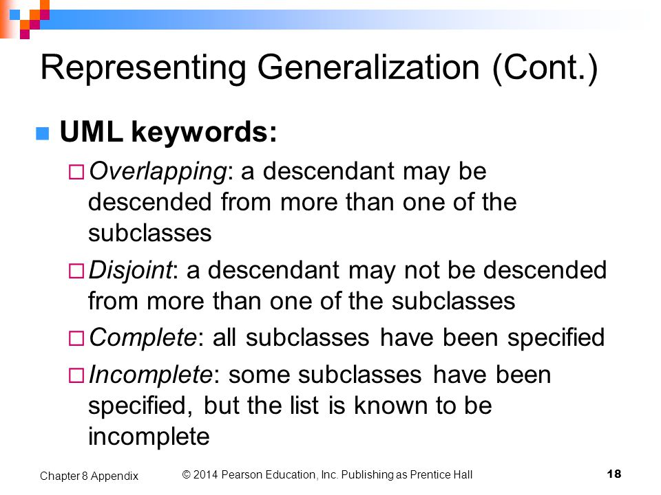Representing Generalization (Cont.)