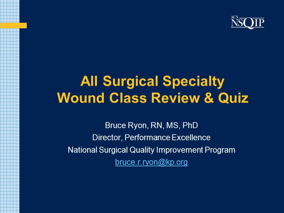 All Surgical Specialty Wound Class Review & Quiz