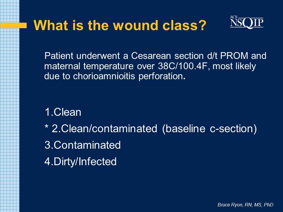 What is the wound class 1.Clean