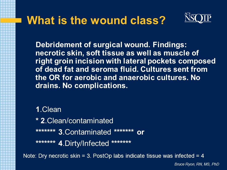 What is the wound class