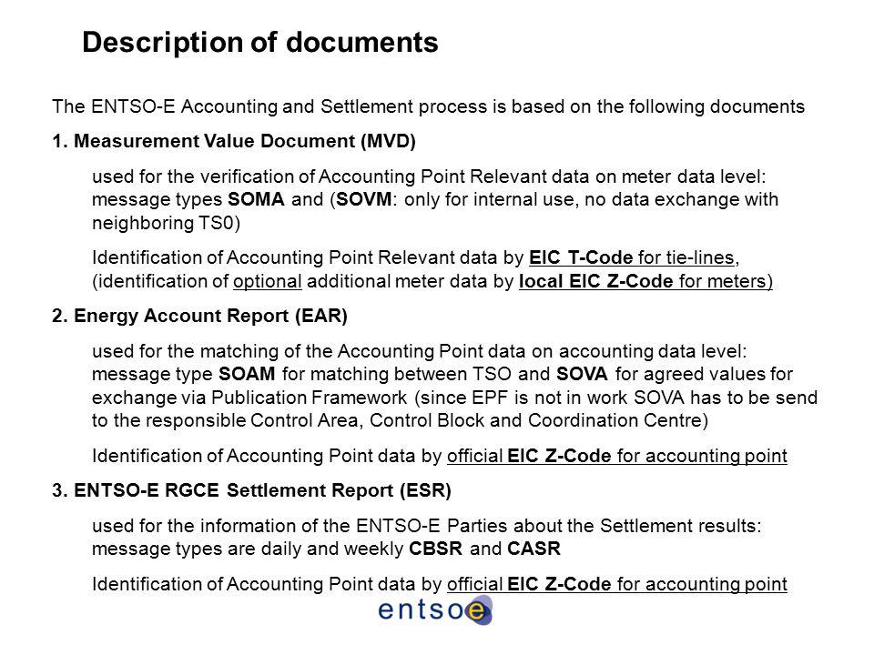 Description of documents