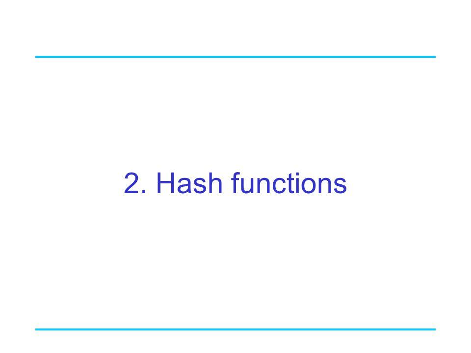 2. Hash functions