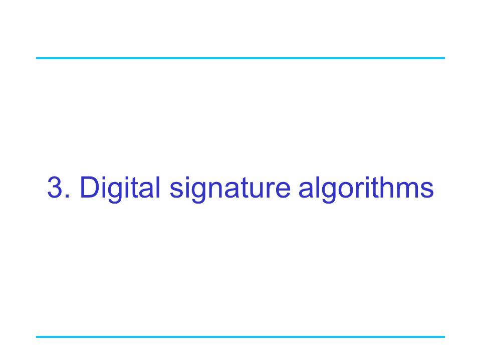 3. Digital signature algorithms