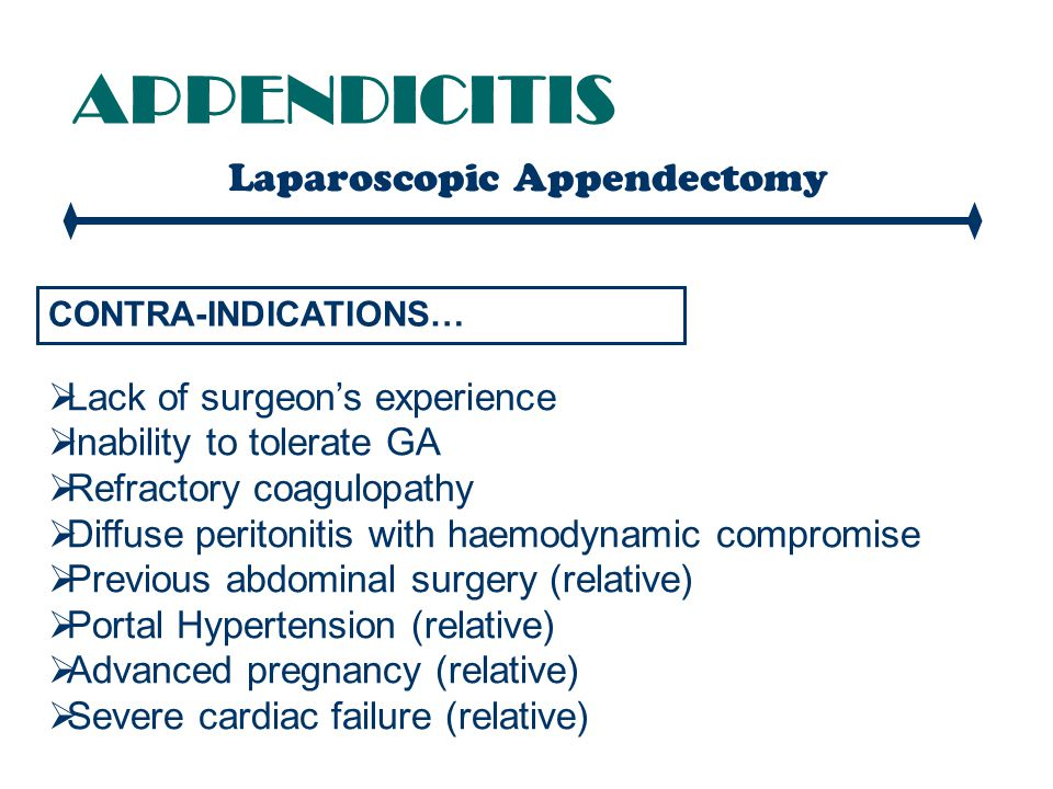 Laparoscopic Appendectomy