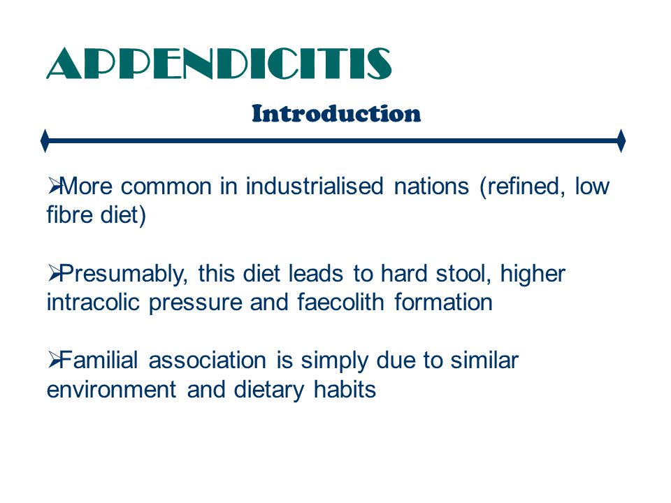 APPENDICITIS Introduction
