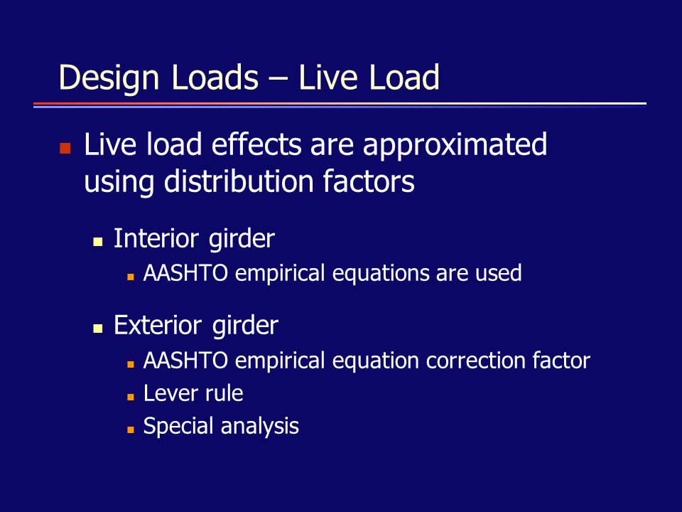 Design Loads – Live Load