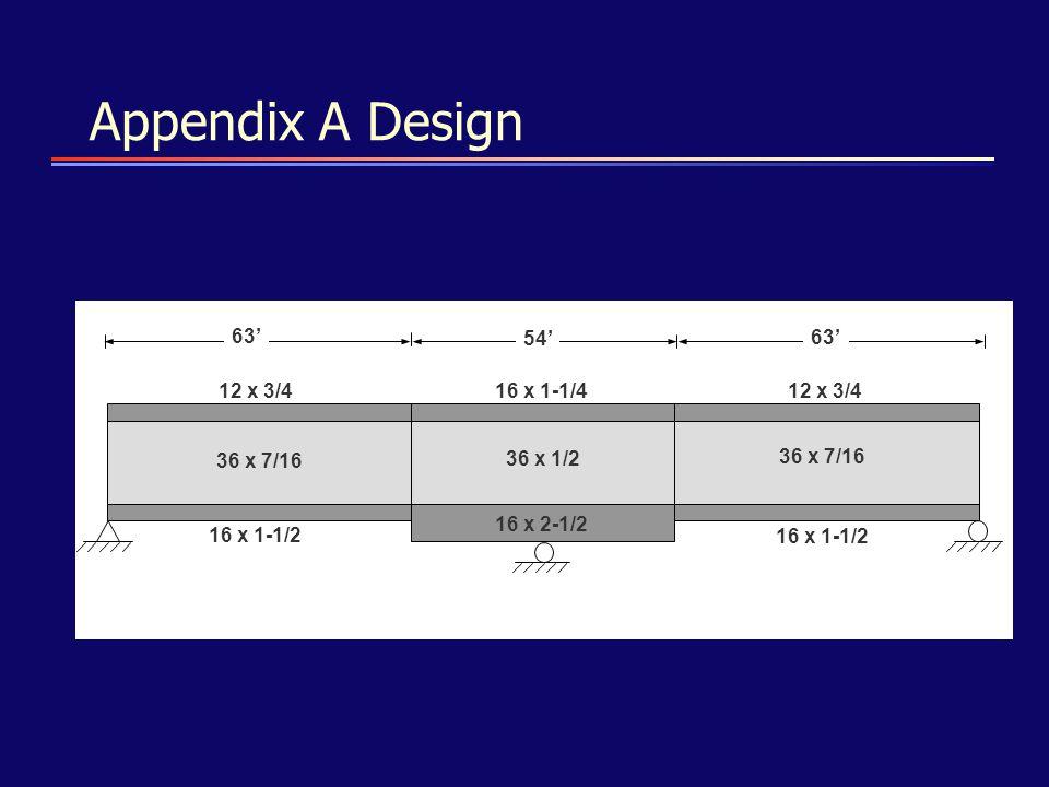Appendix A Design 63' 54' 12 x 3/4 16 x 1-1/4 16 x 1-1/2 16 x 2-1/2