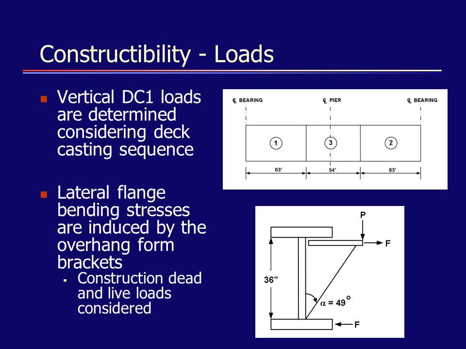 Constructibility - Loads