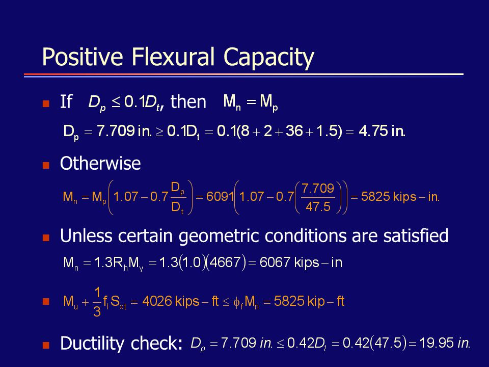 Positive Flexural Capacity
