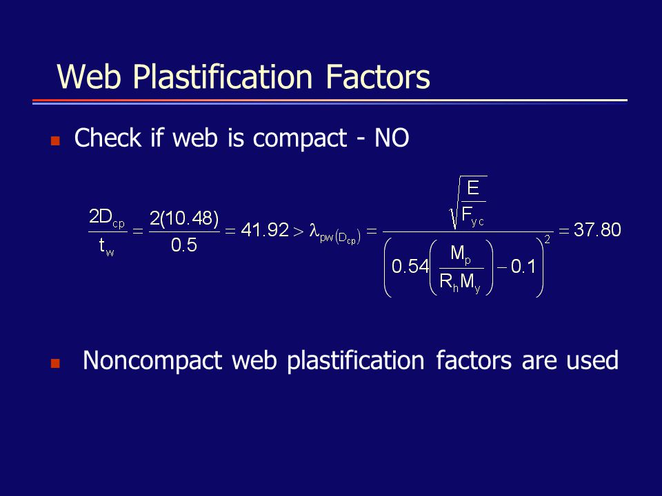 Web Plastification Factors