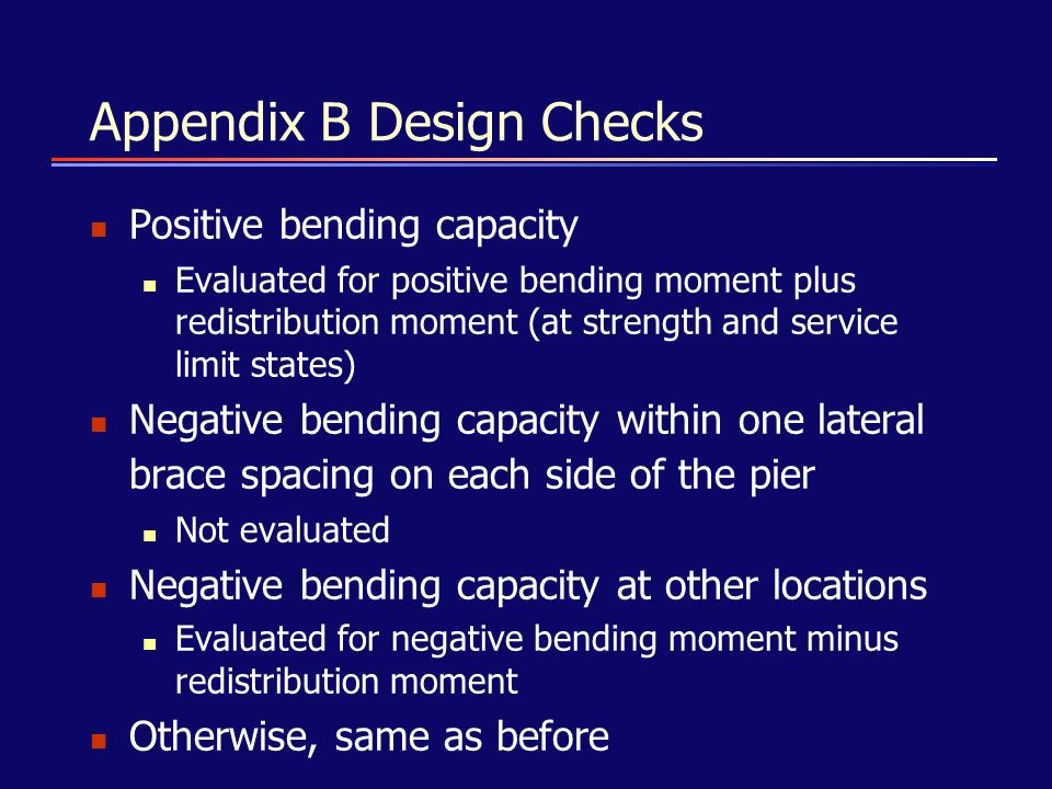 Appendix B Design Checks