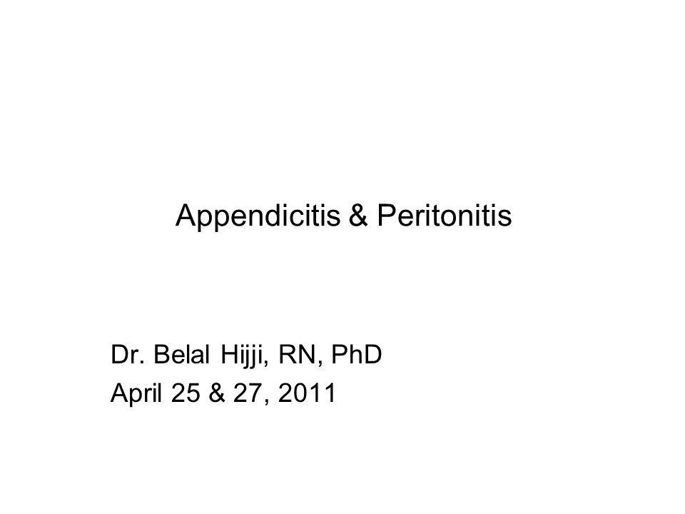 Appendicitis & Peritonitis