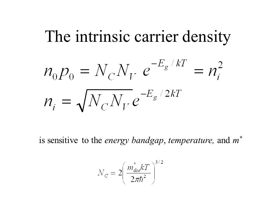 The intrinsic carrier density