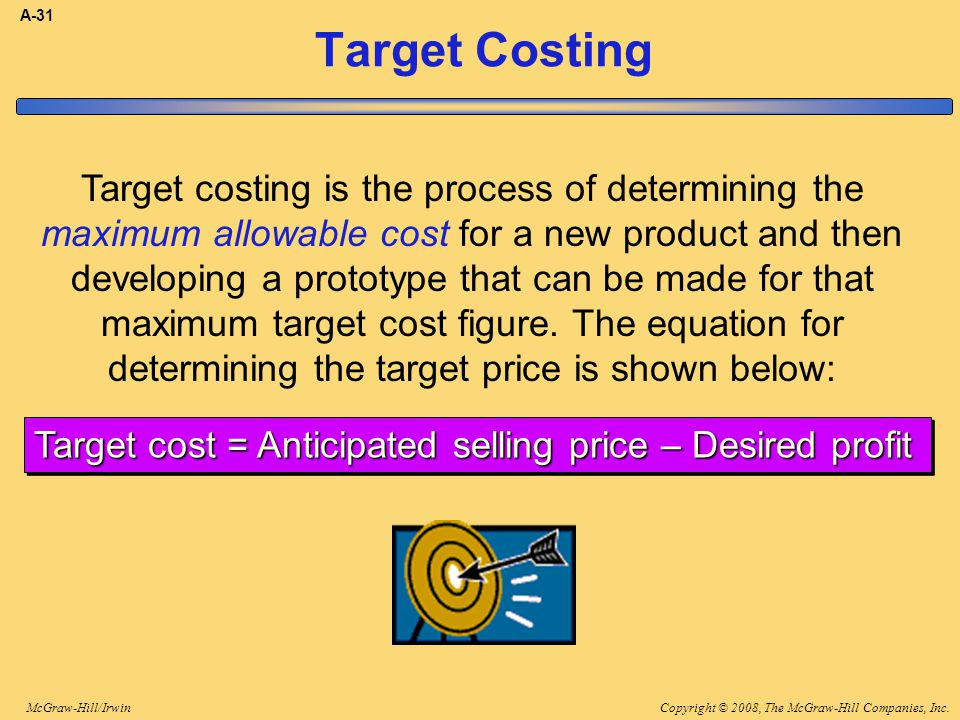 A-31 Target Costing.