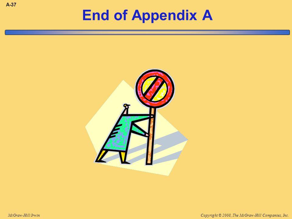 A-37 End of Appendix A End of appendix A.