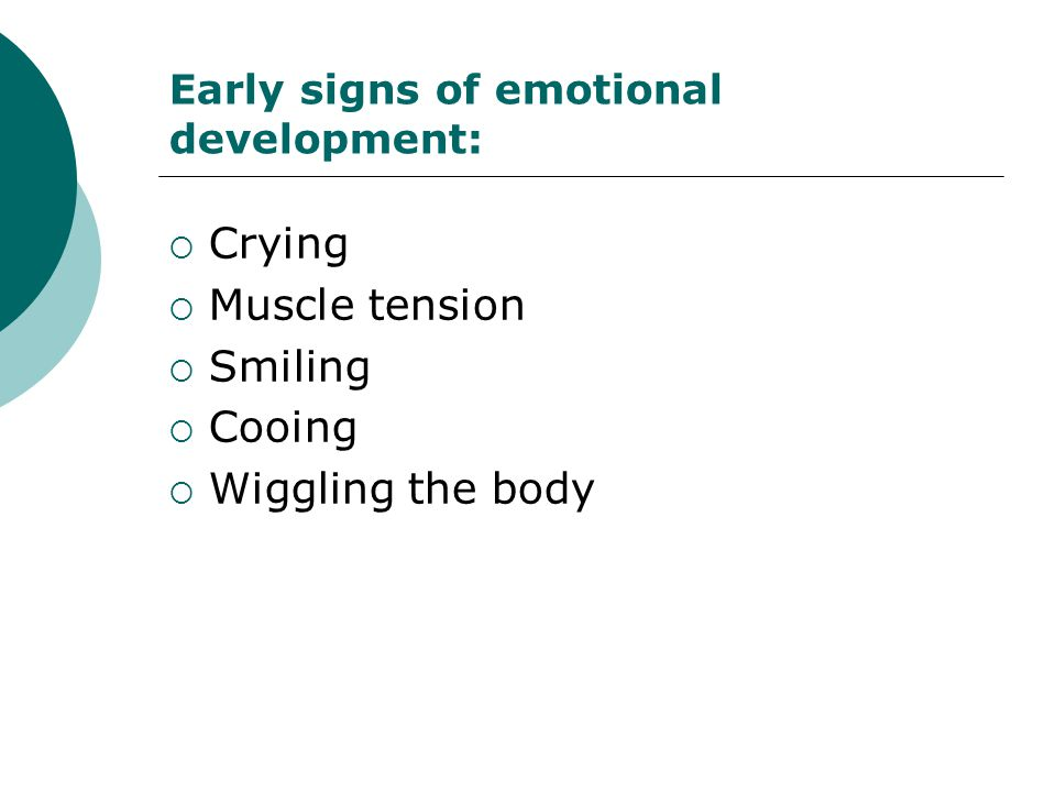 Early signs of emotional development: