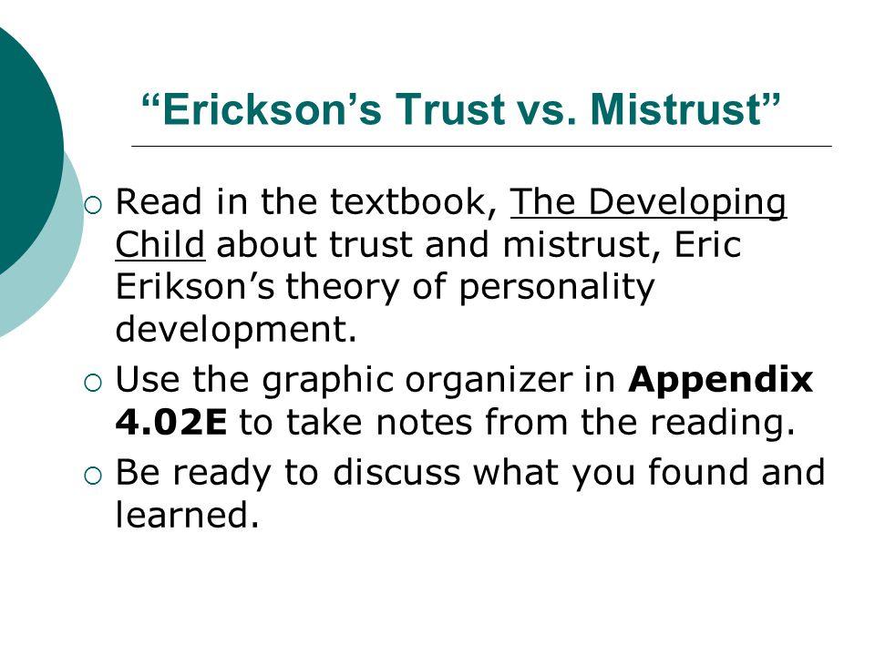 Erickson's Trust vs. Mistrust