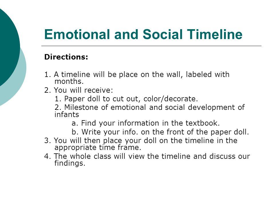 Emotional and Social Timeline