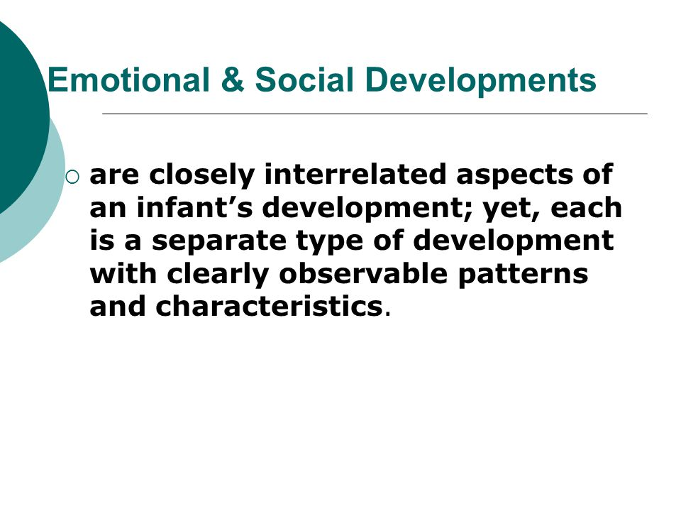 Emotional & Social Developments