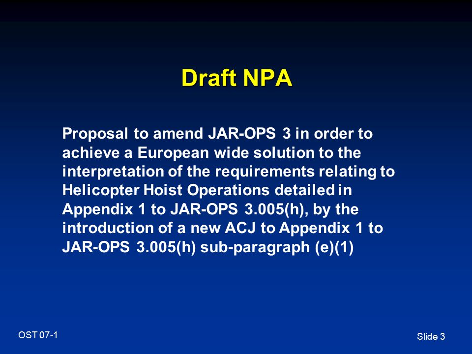 Draft NPA
