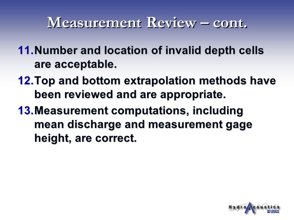 Measurement Review – cont.