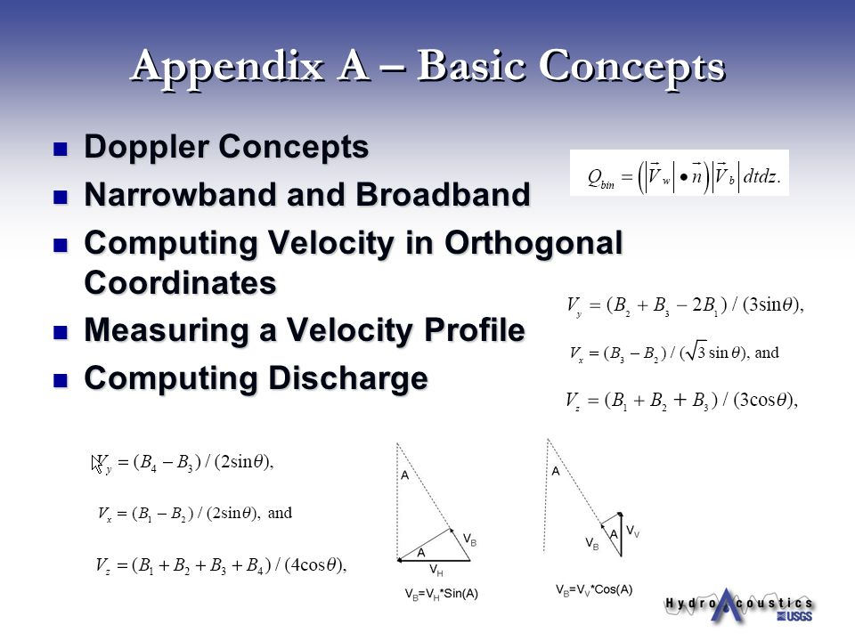 Appendix A – Basic Concepts
