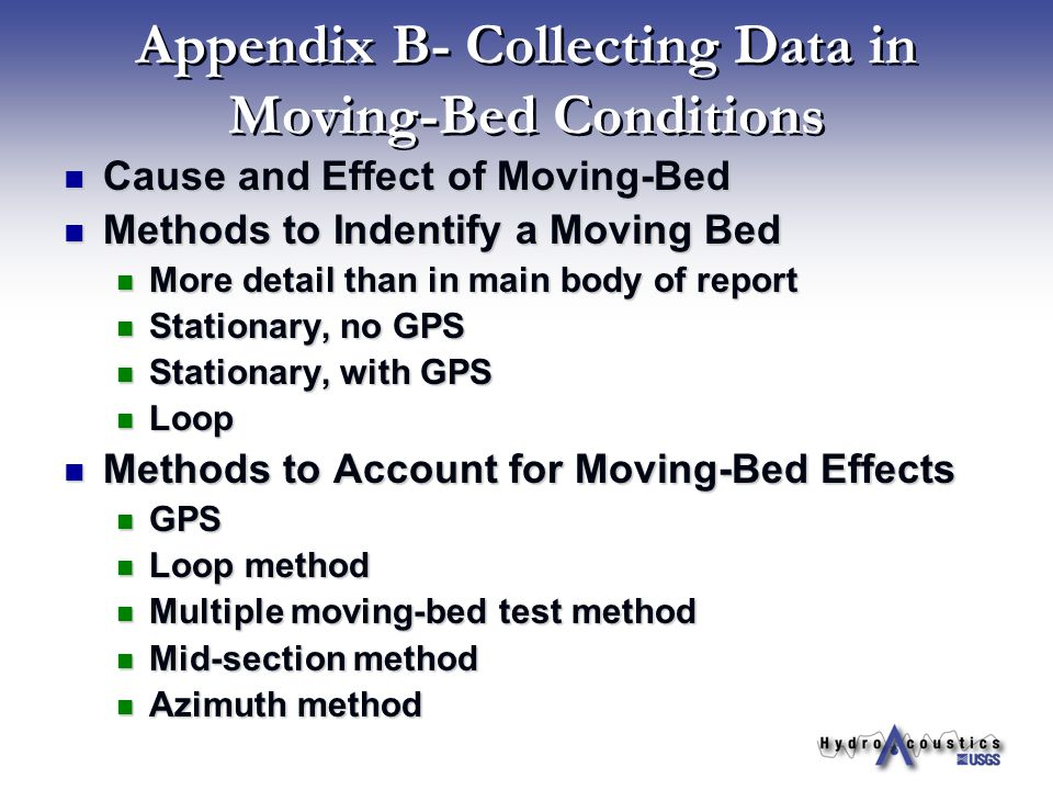 Appendix B- Collecting Data in Moving-Bed Conditions