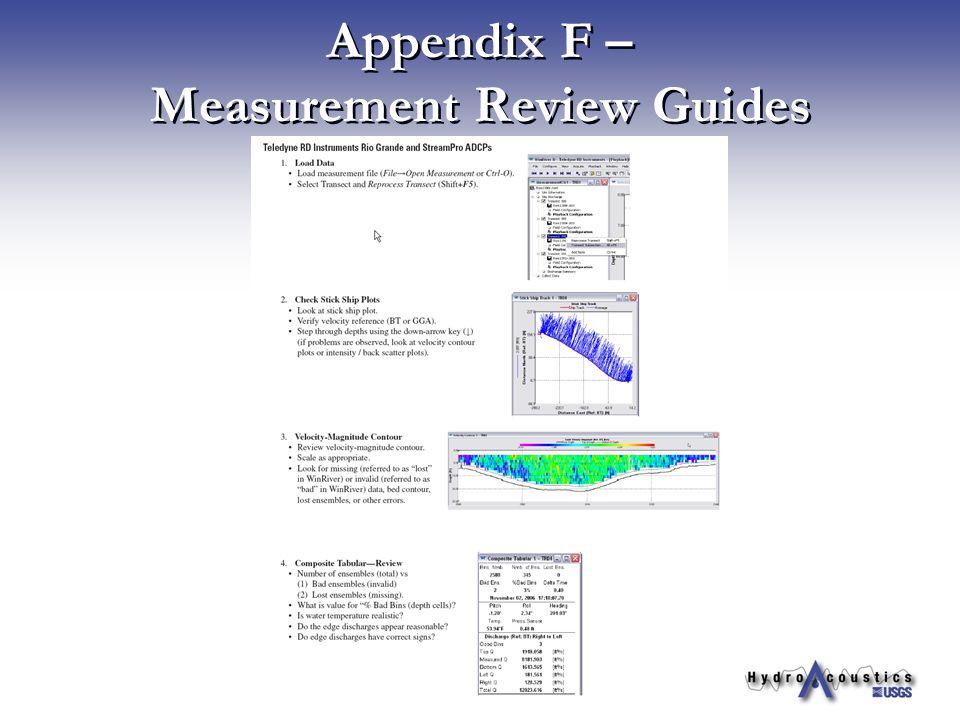 Appendix F – Measurement Review Guides